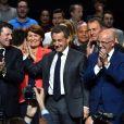 Christian Estrosi, Nicolas Sarkozy, Eric Ciotti - Nicolas Sarkozy en meeting au palais Nikaia pour la campagne des primaires des Républicains en vue de l'élection présidentielle de 2017, Nice le 15 novembre 2016. © Bruno Bebert/Bestimage