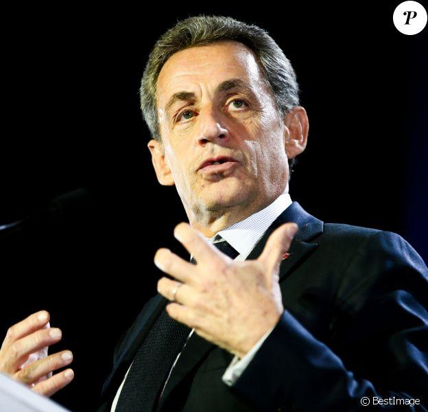 Nicolas Sarkozy en meeting à Saint-Maur-des-Fossés le 14 novembre 2016.