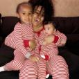 Blac Chyna et ses enfants King Cairo et Dream - Photo publiée sur Instagram en février 2017