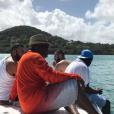 Karim Benzema lors de ses vacances en Martinique avec des amis. Décembre 2016.