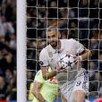 Karim Benzema lors du match Real Madrdi-Naples, comptant pour les huitièmes de finale de la Ligue des Champions, au Santiago Bernabeu, le 15 février 2017.