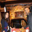 """Tony Parker et sa fiancee Axelle Francine - Soiree du 8eme gala de charite """"Par Coeur"""" pour l'association """"Make a Wish"""" a l' abbaye Paul Bocuse a Collonges le 26 septembre 2013."""