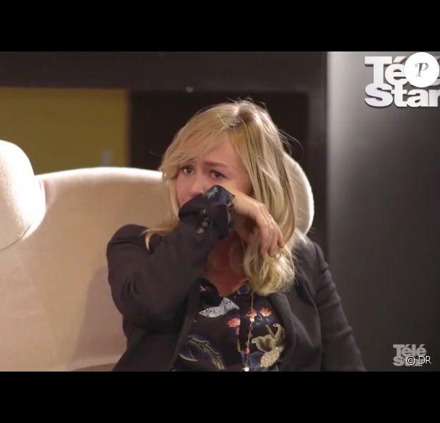 Enora Malagré en larmes lors d'une interview pour le site Télé Star. Février 2017.
