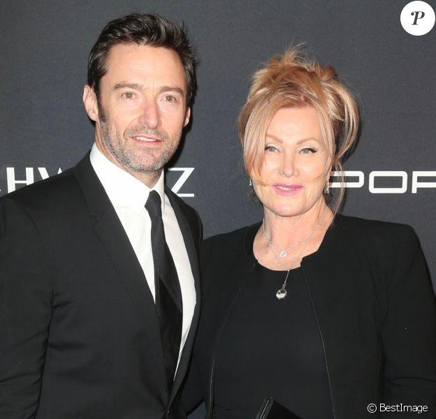 """Hugh Jackman et sa femme Deborah Lee Furness lors du Gala 2016 """"Angel Ball hosted by Gabrielle's Angel Foundation for Cancer Research"""", qui honore, entre autres, Robert Kardashian, à New York, le 21 novembre 2016."""