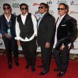 Jermaine Jackson, Jackie Jackson, Tito Jackson, Marlon Jackson à la Soiree des frères Jackson au Planet Hollywood de Las Vegas le 22 février 2014.