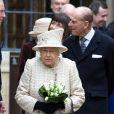 La reine Elisabeth II d'Angleterre et le prince Philip, duc d'Edimbourg assistent à l'inauguration de la nouvelle aile de la Charterhouse à Londres, le 28 février 2017.  The Queen Elizabeth II and accompanied by the Duke of Edinburgh opens a new development at the Charterhouse in London on 28 February, 2017.28/02/2017 - Londres