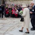 La reine Elisabeth II d'Angleterre assiste à l'inauguration de la nouvelle aile de la Charterhouse à Londres, le 28 février 2017.  The Queen Elizabeth II opens a new development at the Charterhouse in London on 28 February, 2017.28/02/2017 - Londres