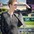 """""""La princesse Charlene de Monaco au premier """"Charity Mile"""" à son nom à l'hippodrome de la Côte d'Azur de Cagnes-sur-mer le 25 février 2017 © Michael Alesi / Bestimage"""""""