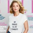 """Virginie Efira en couverture du magazine """"ELLE"""", numéro du 3 mars 2017."""