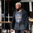 Kanye West à la sortie de son cours de gym à Los Angeles, le 1er mars 2017