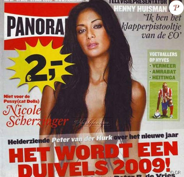 Nicole Scherzinger pose en couverture du magazine hollandais Panorama