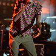 Exclusif - Stromae en concert sur la Grand Place de Bruxelles lors de la fete de la Federation Wallonie-Bruxelles, le 27 septembre 2013.