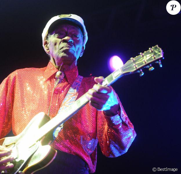 Chuck Berry en concert a Moscou, le 24 février 2013.