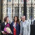 Semi- Exclusif - Iris Mittenaere (Miss Univers) au Palais de l'Elysée pour rencontrer le président de la République François Hollande et visiter l'Elysée à Paris, le 18 mars 2017.