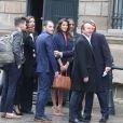 Semi- Exclusif - Iris Mittenaere (Miss Univers) et ses parents Yves Mittenaere et Laurence Druart au Palais de l'Elysée pour rencontrer le Président de la République F. Hollande et visiter l'Elysée à Paris, le 18 mars 2017.