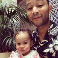 John Legend a publié une photo de sa fille Luna avec qui il est en vacances au Maroc - Photo publiée sur Instagram le 19 mars 2017