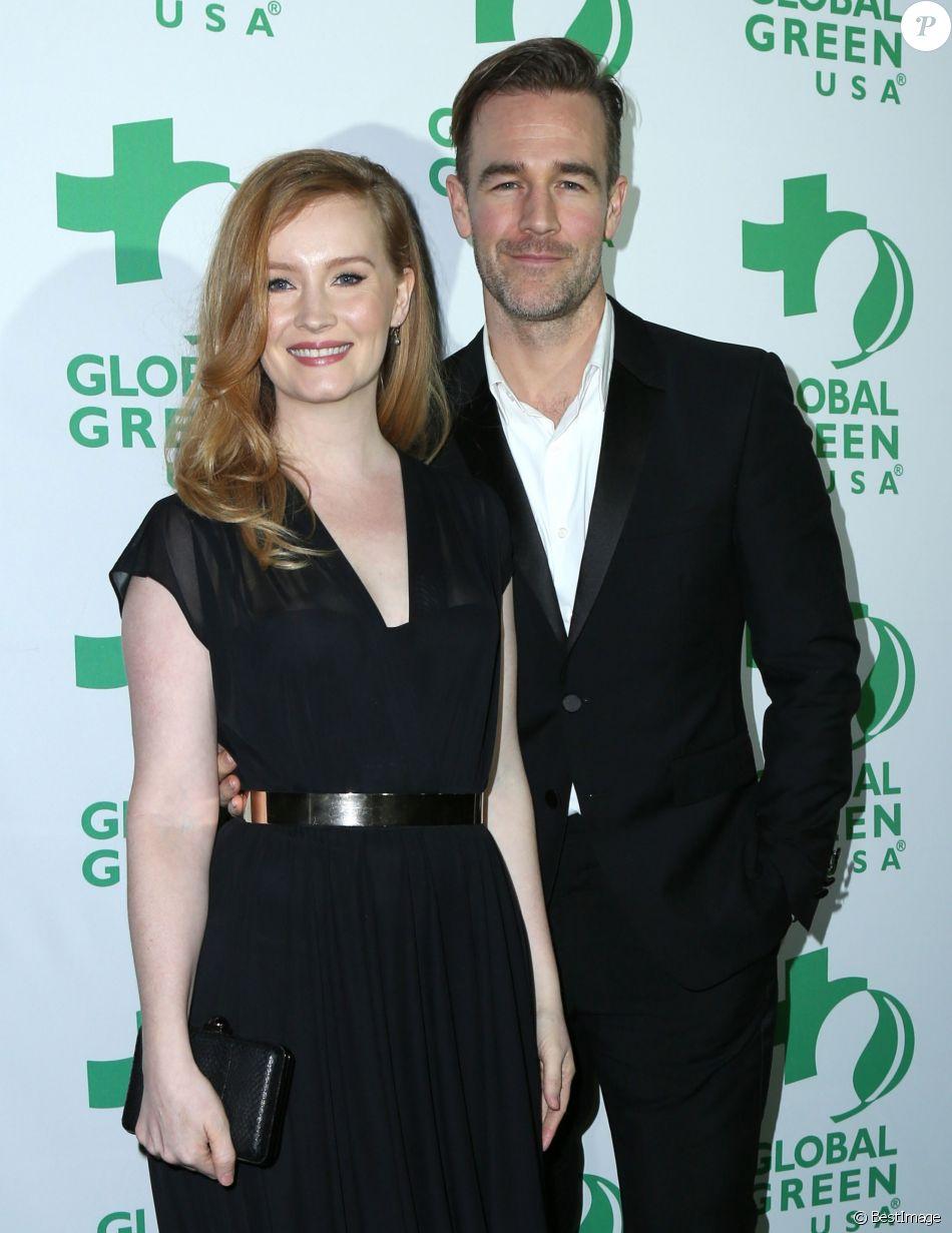 James Van Der Beek et sa femme Kimberly à la soirée Global Green Pre Oscar à TAO Hollywood à Los Angeles, le 22 février 2017