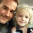 James Van Der Beek et sa fille aînée Olivia, née en septembre 2010.