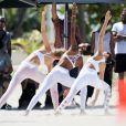 Les mannequins Adriana Lima, Jasmine Tookes, Romee Strijd et Sara Sampaio en shooting pour Victoria's Secret à Miami. Le 21 mars 2017.