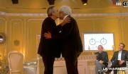 """Thierry Ardisson et Bruno Masure, la confrontation. """"Salut les Terriens !"""" sur C8. Le 25 mars 2017."""