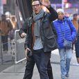 """Benedict Cumberbatch arrive dans les studios de l'émission """"Good Morning America"""" pour faire la promotion du film """"Doctor Strange"""" à New York, le 1er novembre 2016."""