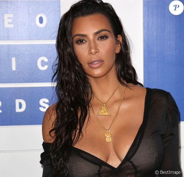 Kim Kardashian à la soirée des MTV Video Music Awards 2016 à Madison Square Garden à New York, le 28 août 2016.