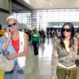 Paris Hilton et Kim Kardashian à l'aéroport de Los Angeles, le 22 septembre 2006