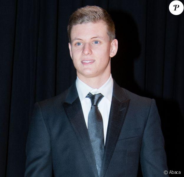 Mick Schumacher, fils de Michael Schumacher qui aspire à devenir champion du monde de F1 comme lui, le 17 décembre 2016 au Gala des sports de l'ADAC à Munich, en Allemagne.