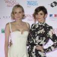 """Diane Kruger et Clotilde Courau (princesse de Savoie) lors de la cérémonie d'ouverture du festival """"Rendez-vous avec le nouveau Cinéma français"""" à l'ambassade de France à Rome, Italie, le 5 avril 2017."""