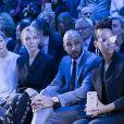 """Rosamund Pike, Uma Thurman, Swizz Beatz et sa femme Alicia Keys - Frontrow - Défilé de mode prêt-à-porter Automne-Hiver 2017-2018 """"Christian Dior"""" à Paris le 3 mars 2017."""