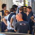 """Tom Cruise et Sean Harris sur le tournage de """"Mission Impossible 6"""" à Paris, France, le 9 avril, 2017."""