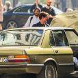"""Tom Cruise sur le tournage du film """"Mission Impossible 6"""" à Paris, France, le 9 avril, 2017."""