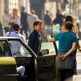 """Tom Cruise et Sean Harris sur le tournage d'une scène du film """"Mission Impossible 6"""" à Paris, France, le 9 avril, 2017."""