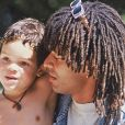 Yannick et son fil Joakim le 26 avril 1990