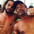 Joakim Noah pose avec son papa, Yannick Noah, sur Instagram, 2016.