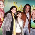 """Yelena et Yannick Noah, Isabelle Camus - Générale du spectacle """"Saltimbanco"""" du Cirque du soleil, Boulogne-Billancourt, le 7 avril 2005."""
