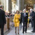 La princesse Désirée de Suède et son mari le baron Niclas Silfverschiöld au Te Deum en l'honneur du 70e anniversaire du roi Carl XVI GUstaf de Suède au palais royal à Stockholm le 30 avril 2016.