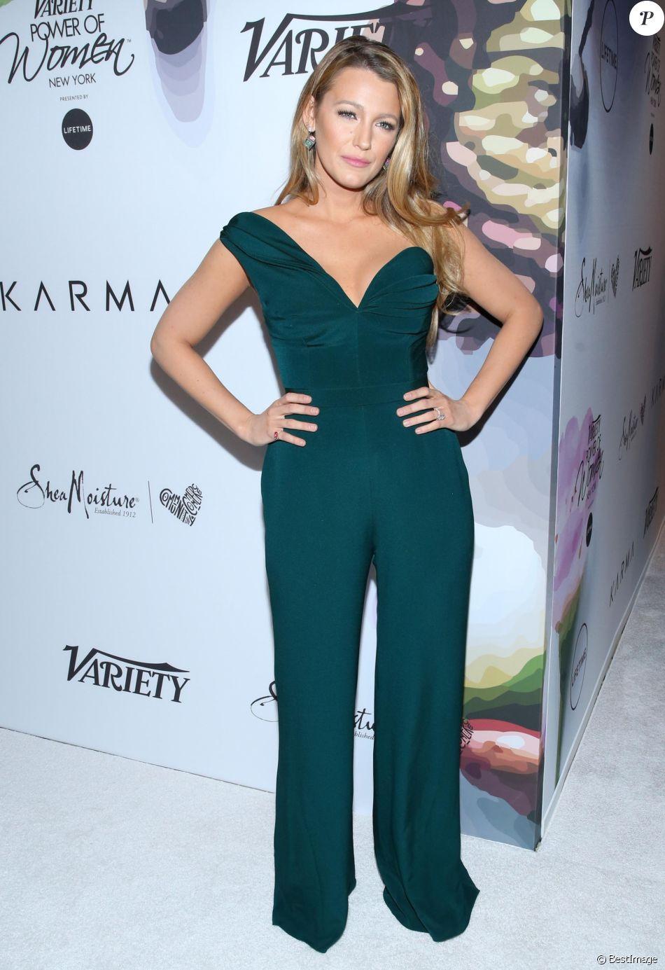 """Blake Lively - Les célébrités lors du photocall de la soirée """"Variety's Power Of Women"""" à New York le 21 avril 2017."""