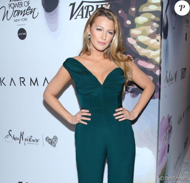 """Blake Livelylors du photocall de la soirée """"Variety's Power Of Women"""" à New York le 21 avril 2017."""