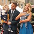 Ryan Reynolds avec sa femme Blake Lively et ses filles James Reynolds et sa petite soeur - Ryan Reynolds reçoit son étoile sur le Walk of Fame à Hollywood, le 15 décembre 2016