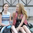 Leighton Meester et Blake Lively sur le tournage de 'Gossip Girl' à New York le 13 juillet 2009