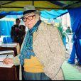 ARCHIVES - FRANCOIS MARCANTONI AUX OBSEQUES D' ACHILLE ZAVATTA EN 1993 23/11/1993 -