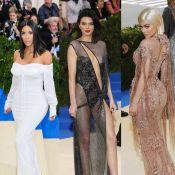 Kim Kardashian, Kendall et Kylie Jenner, divines, posent sans chéris au Met Gala