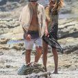 Exclusif - Heidi Klum et son compagnon Vito Schnabel passent une journée romantique sur une plage au Costa Rica. Le 14 avril 2017.