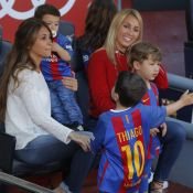 Lionel Messi et Luis Suarez: Avec femmes et enfants au Camp Nou, pause tendresse