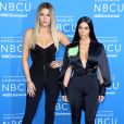 Khloé et Kim Kardashian assistent à l'UpFront du groupe NBCUniversal au Radio City Music Hall. New York, le 15 mai 2017.