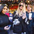 Kim, Khloé Kardashian et Jonathan Cheban à New York, le 15 mai 2017.