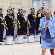Brigitte Macron - La famille de E.Macron arrive au palais de l'Elysée à Paris le 14 mai 2017 pour la cérémonie d'investiture du nouveau président.