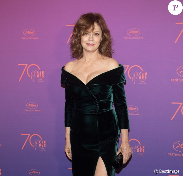 Susan Sarandon - Arrivées au dîner de la cérémonie d'ouverture du 70ème Festival International du Film de Cannes. Le 17 mai 2017 © Borde-Jacovides-Moreau/Bestimage