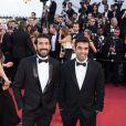 Les gagnants de l'opération #OrangeSponsorsYou lors de la montée des marches du Festival de Cannes 2017 - 17 mai 2017